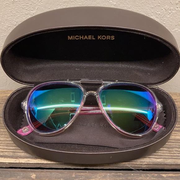 Michael Kors Caicos Pink Aviator Sunglasses